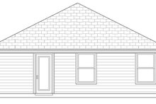 Architectural House Design - Craftsman Exterior - Rear Elevation Plan #84-499