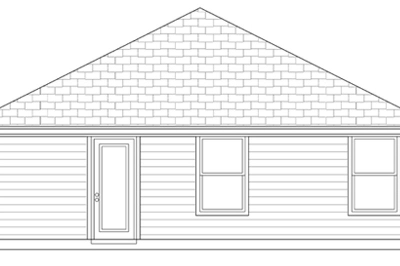 Craftsman Exterior - Rear Elevation Plan #84-499 - Houseplans.com