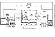 Ranch Style House Plan - 3 Beds 2.5 Baths 2693 Sq/Ft Plan #140-149 Floor Plan - Main Floor