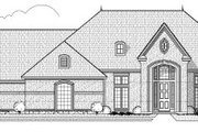 European Style House Plan - 3 Beds 3 Baths 2890 Sq/Ft Plan #65-424 Exterior - Front Elevation