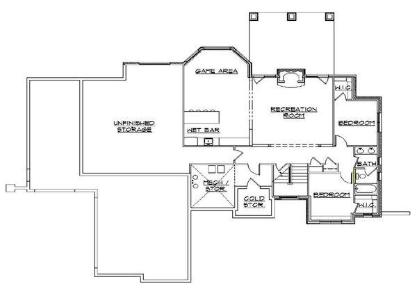 House Plan Design - European Floor Plan - Lower Floor Plan #5-276