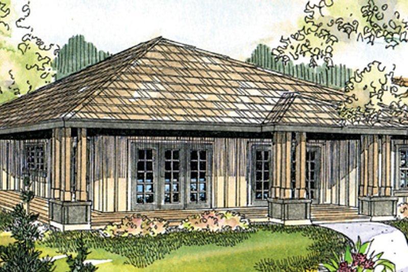 Cabin Exterior - Front Elevation Plan #124-854