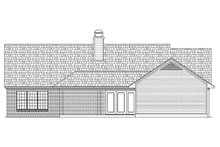 Dream House Plan - Ranch Exterior - Rear Elevation Plan #45-580