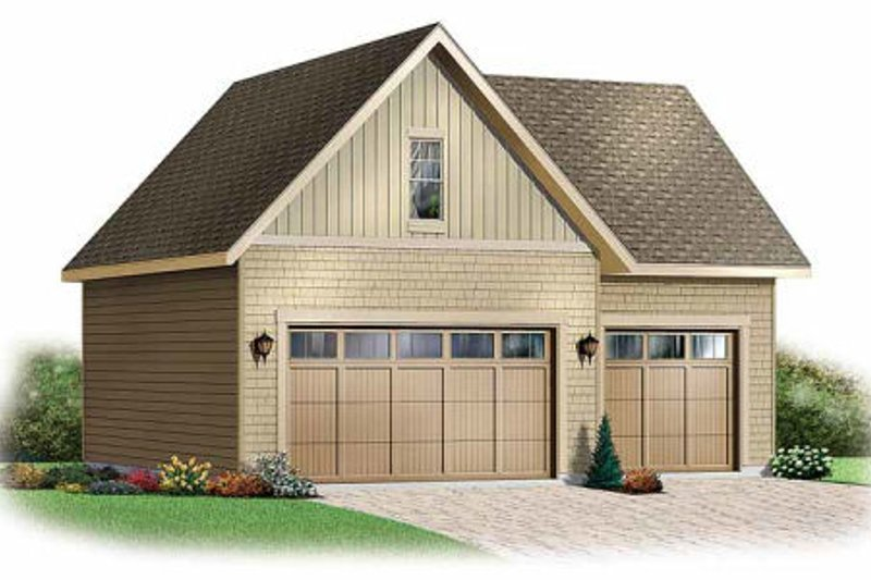 Home Plan - Traditional Exterior - Front Elevation Plan #23-439