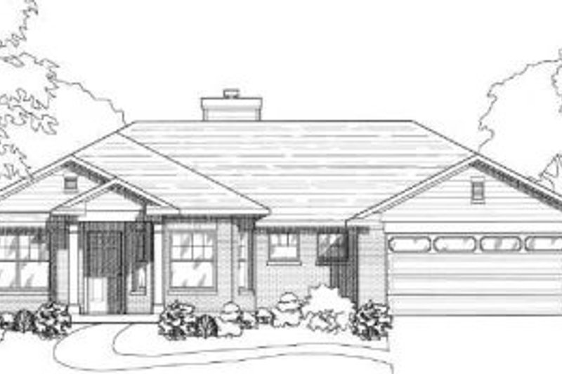 Traditional Exterior - Front Elevation Plan #80-106