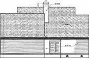 Farmhouse Style House Plan - 3 Beds 3.5 Baths 2194 Sq/Ft Plan #45-140 Exterior - Rear Elevation
