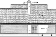 Home Plan Design - Farmhouse Exterior - Rear Elevation Plan #45-140