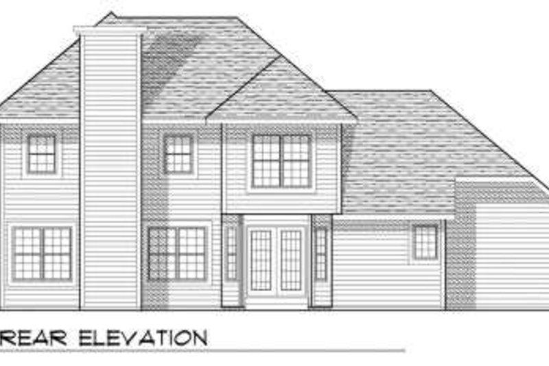 Traditional Exterior - Rear Elevation Plan #70-647 - Houseplans.com