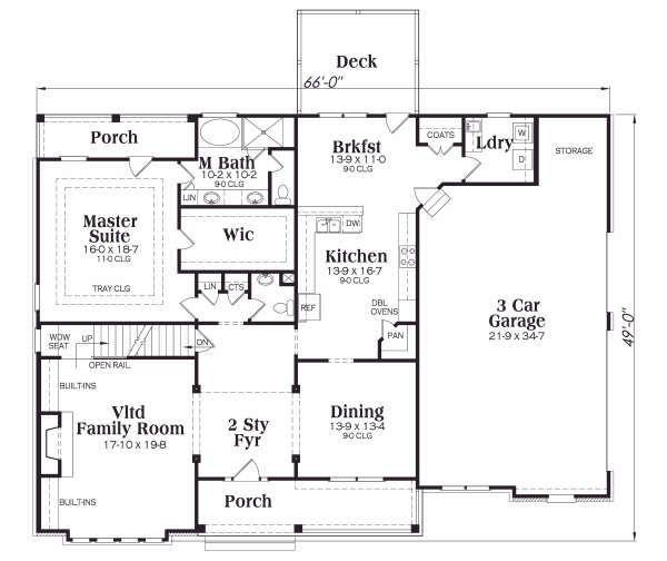 Traditional Floor Plan - Main Floor Plan Plan #419-138