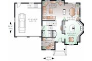 Traditional Style House Plan - 3 Beds 2.5 Baths 2090 Sq/Ft Plan #23-809 Floor Plan - Main Floor