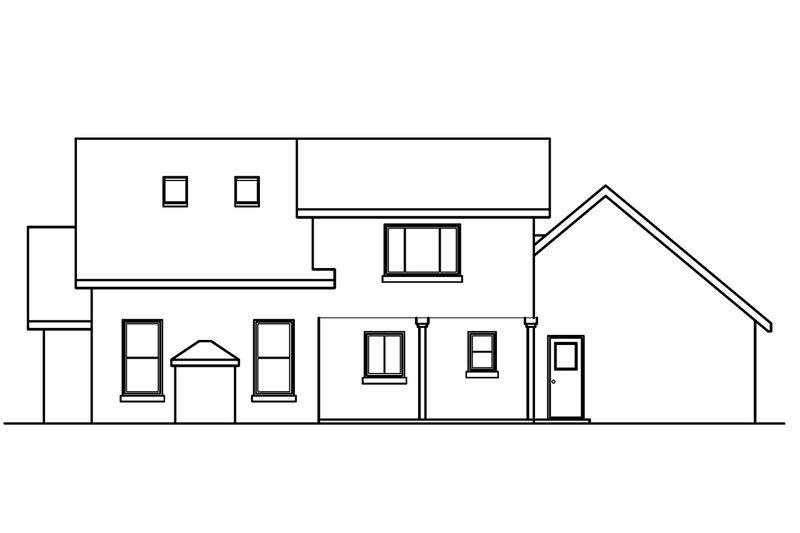 Traditional Exterior - Rear Elevation Plan #124-354 - Houseplans.com