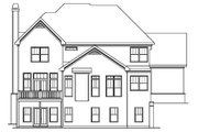 European Style House Plan - 5 Beds 4.5 Baths 3191 Sq/Ft Plan #419-191 Exterior - Rear Elevation