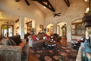 Ranch Style House Plan - 3 Beds 2.5 Baths 2693 Sq/Ft Plan #140-149 Interior - Family Room