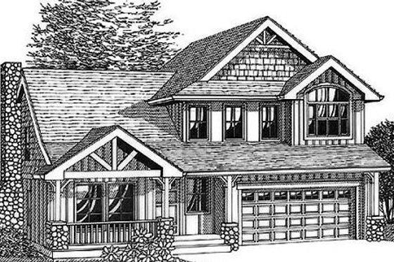 Bungalow Exterior - Front Elevation Plan #53-401