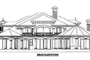 Mediterranean Style House Plan - 5 Beds 5.5 Baths 6780 Sq/Ft Plan #27-216 Exterior - Rear Elevation