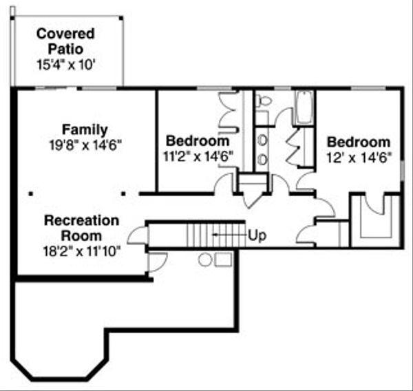 Floor Plan - Lower Floor Plan Plan #124-756
