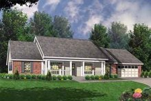 Southern Exterior - Front Elevation Plan #40-331