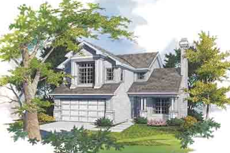 Traditional Exterior - Front Elevation Plan #48-196