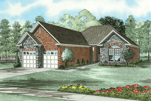 Traditional Exterior - Front Elevation Plan #17-188