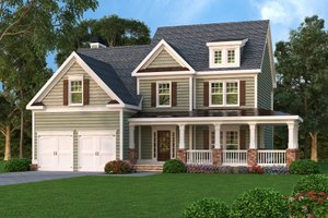 Country Exterior - Front Elevation Plan #419-181