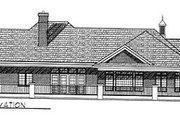 European Style House Plan - 2 Beds 2 Baths 2518 Sq/Ft Plan #70-406 Exterior - Rear Elevation