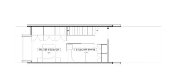 Modern Floor Plan - Upper Floor Plan Plan #469-2
