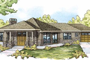 Craftsman Exterior - Front Elevation Plan #124-830