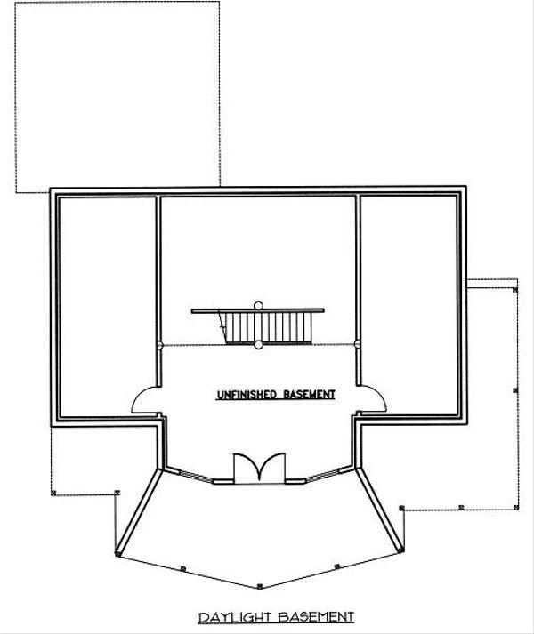 Home Plan - Bungalow Floor Plan - Lower Floor Plan #117-546