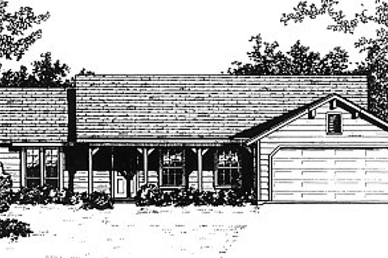 Traditional Exterior - Front Elevation Plan #14-143 - Houseplans.com