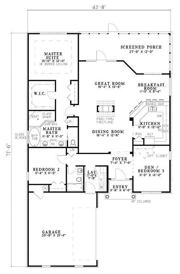 Traditional Floor Plan - Main Floor Plan #17-2275