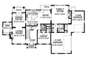 Traditional Style House Plan - 4 Beds 4.5 Baths 4250 Sq/Ft Plan #490-9 Floor Plan - Main Floor Plan