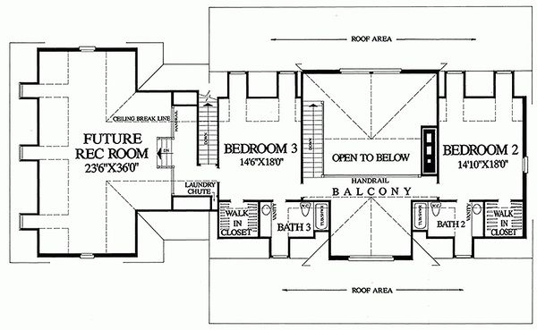 Upper Level Floor Plan - 3300 square foot Country home