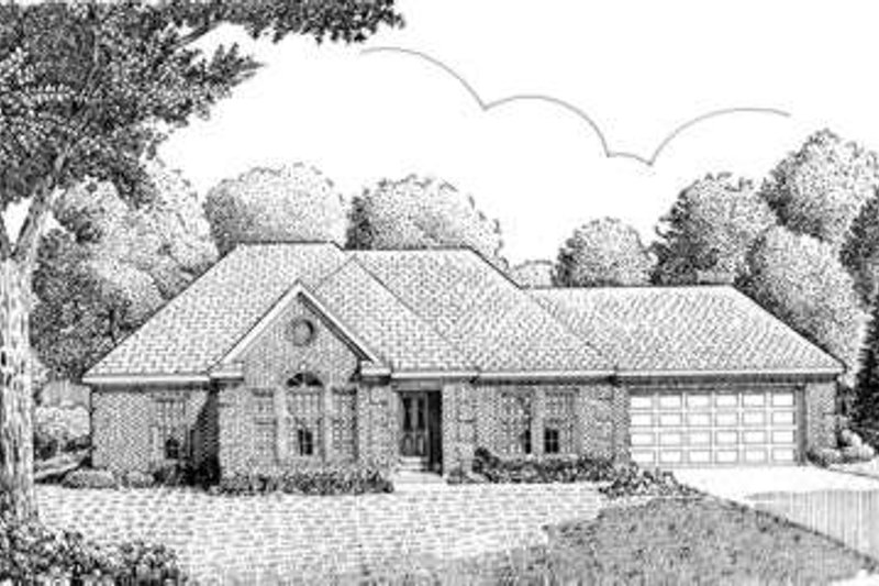 European Exterior - Front Elevation Plan #410-318