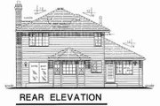 Traditional Style House Plan - 3 Beds 2.5 Baths 1919 Sq/Ft Plan #18-9080 Exterior - Rear Elevation