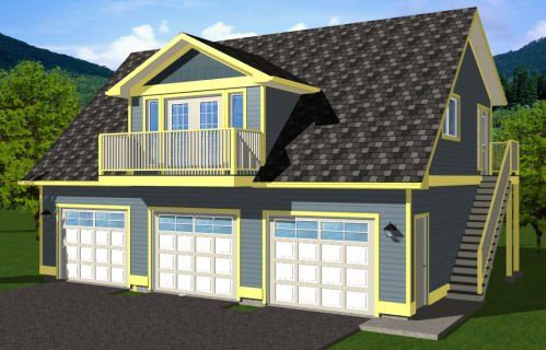 Traditional Style House Plan - 2 Beds 1 Baths 880 Sq/Ft Plan #126-161 Exterior - Front Elevation