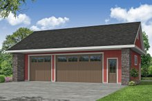 House Blueprint - Traditional Exterior - Front Elevation Plan #124-1225