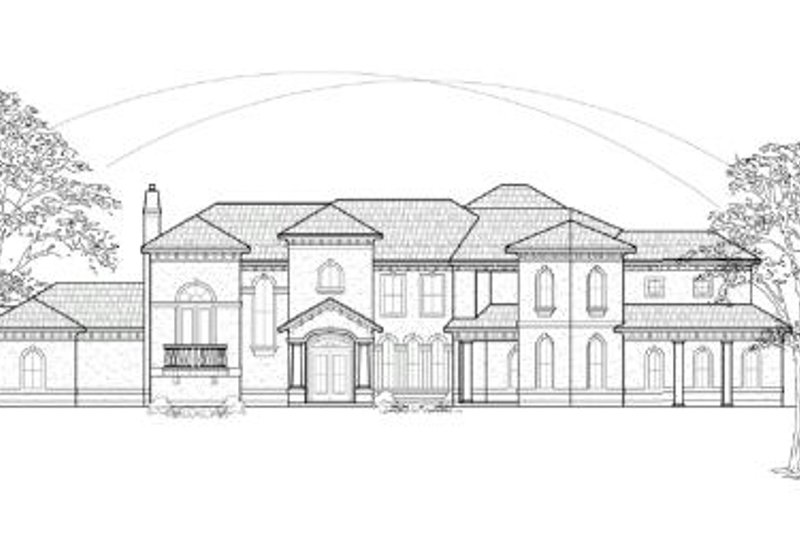 Mediterranean Exterior - Front Elevation Plan #61-156