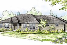 Dream House Plan - Ranch Exterior - Front Elevation Plan #124-824