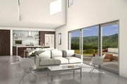 Modern Style House Plan - 3 Beds 2.5 Baths 2200 Sq/Ft Plan #497-18 Interior - Family Room