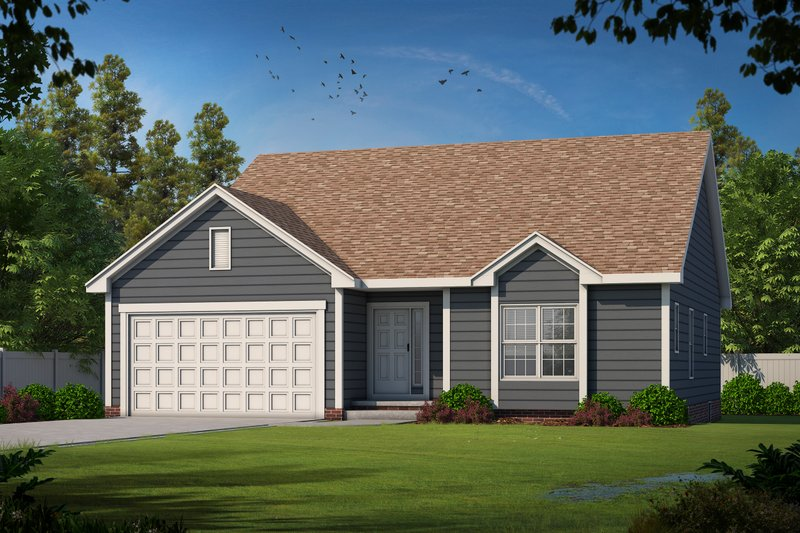 Architectural House Design - Ranch Exterior - Front Elevation Plan #20-2290
