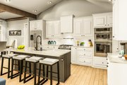 Country Style House Plan - 3 Beds 2 Baths 1936 Sq/Ft Plan #406-9659 Interior - Kitchen