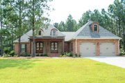 European Style House Plan - 4 Beds 2 Baths 2480 Sq/Ft Plan #430-102 Exterior - Front Elevation