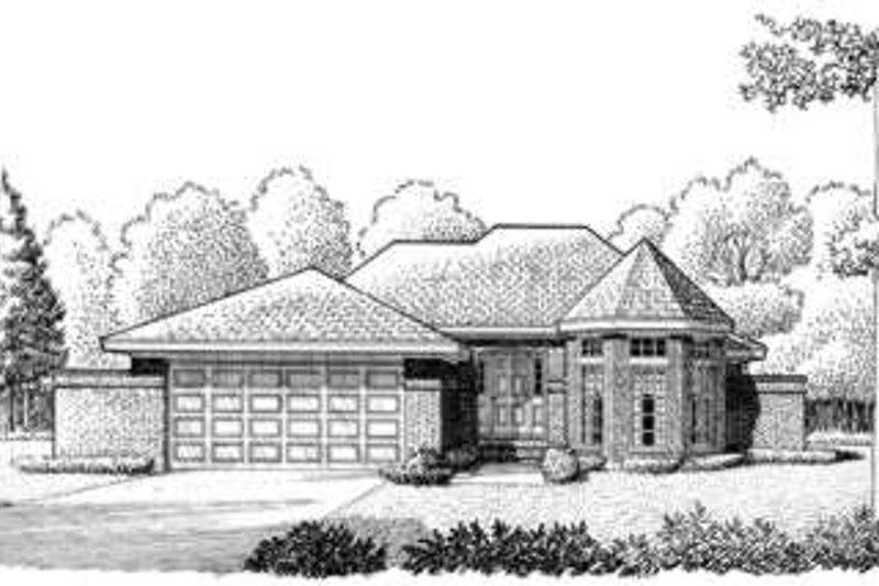 European Exterior - Front Elevation Plan #410-256