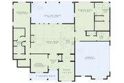 European Style House Plan - 3 Beds 2.5 Baths 2401 Sq/Ft Plan #17-2543 Floor Plan - Main Floor Plan