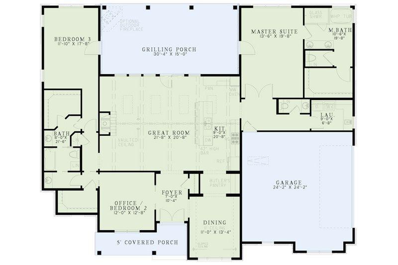 European Floor Plan - Main Floor Plan Plan #17-2543