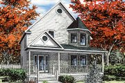 Victorian Style House Plan - 3 Beds 1.5 Baths 1394 Sq/Ft Plan #138-201 Exterior - Front Elevation