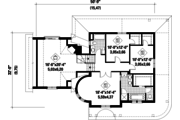 Victorian Style House Plan - 3 Beds 2 Baths 2562 Sq/Ft Plan #25-4691 Floor Plan - Upper Floor