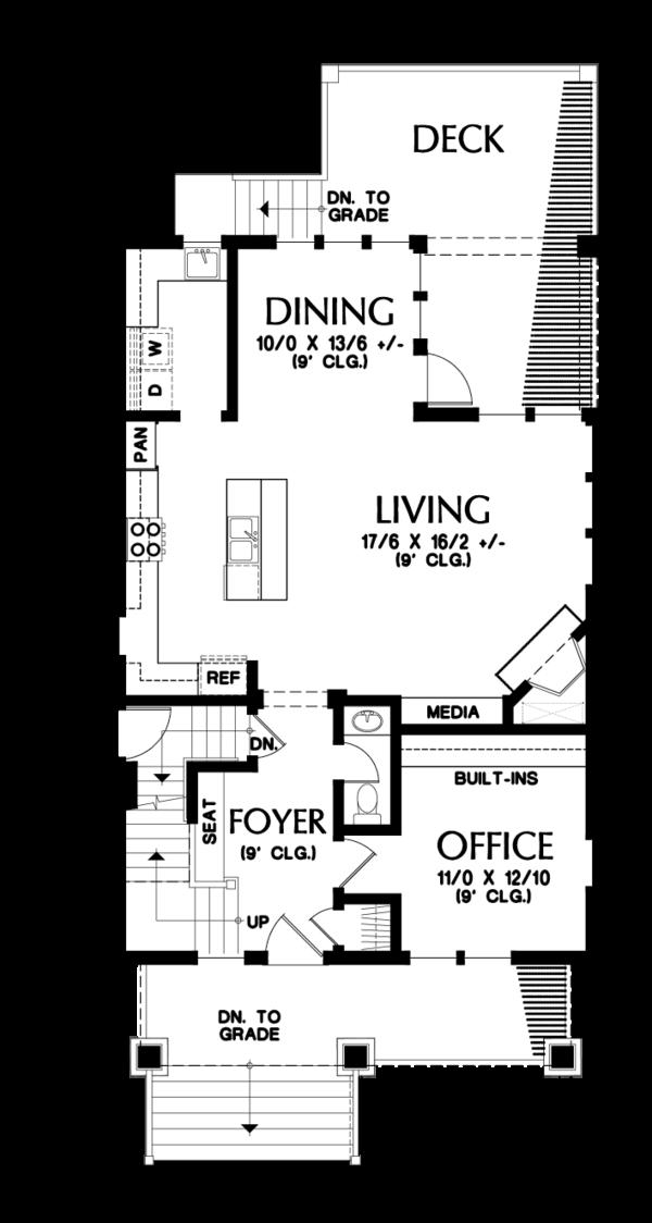Craftsman Floor Plan - Main Floor Plan #48-678