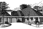 House Plan - 4 Beds 4 Baths 2812 Sq/Ft Plan #15-212 Exterior - Front Elevation