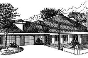 Exterior - Front Elevation Plan #15-212